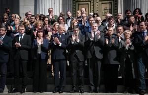 Minuto de silencio en el Congreso por los atentados en Bruselas