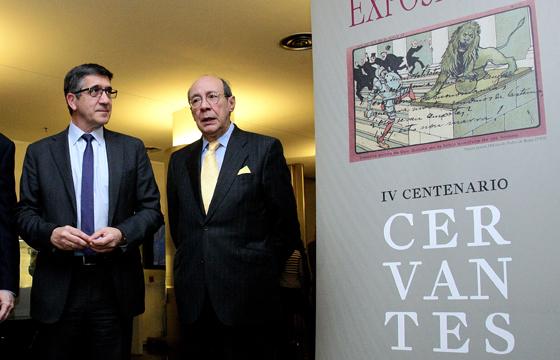 Inauguración de la exposición sobre Cervantes en el Congreso
