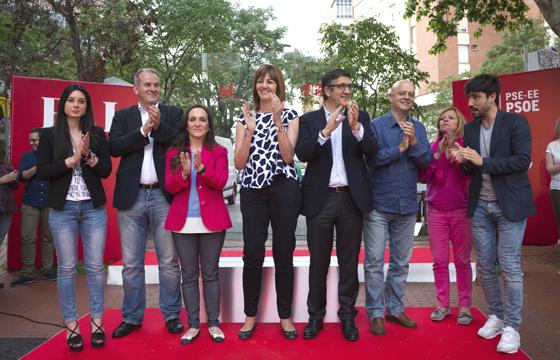 Acto de inicio de campaña en Vitoria